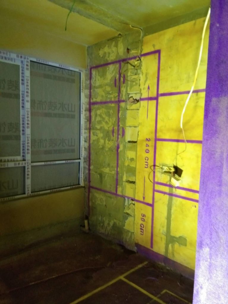 蓝光公园一号-黄墙紫地/全景放样