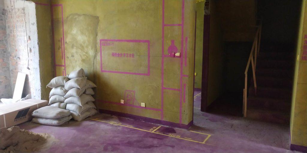 高速时代公馆-黄墙紫地/全景放样