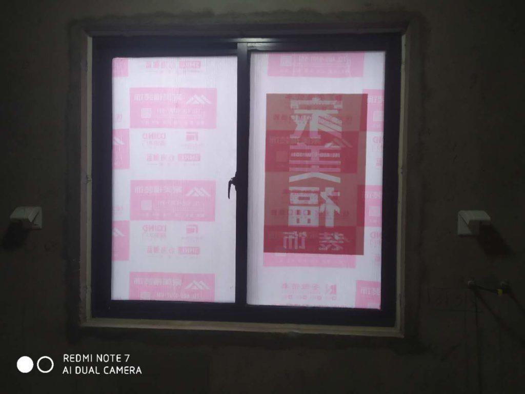 翡翠蓝湾16-1401黄墙绿地/全景放样/成品保护